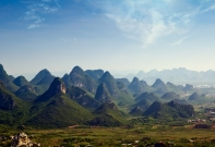 Karstlandschaft, China Reise