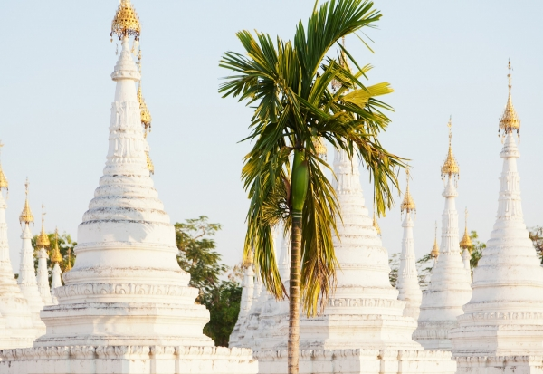 Kuthodaw-Pagode in Mandalay, Myanmar