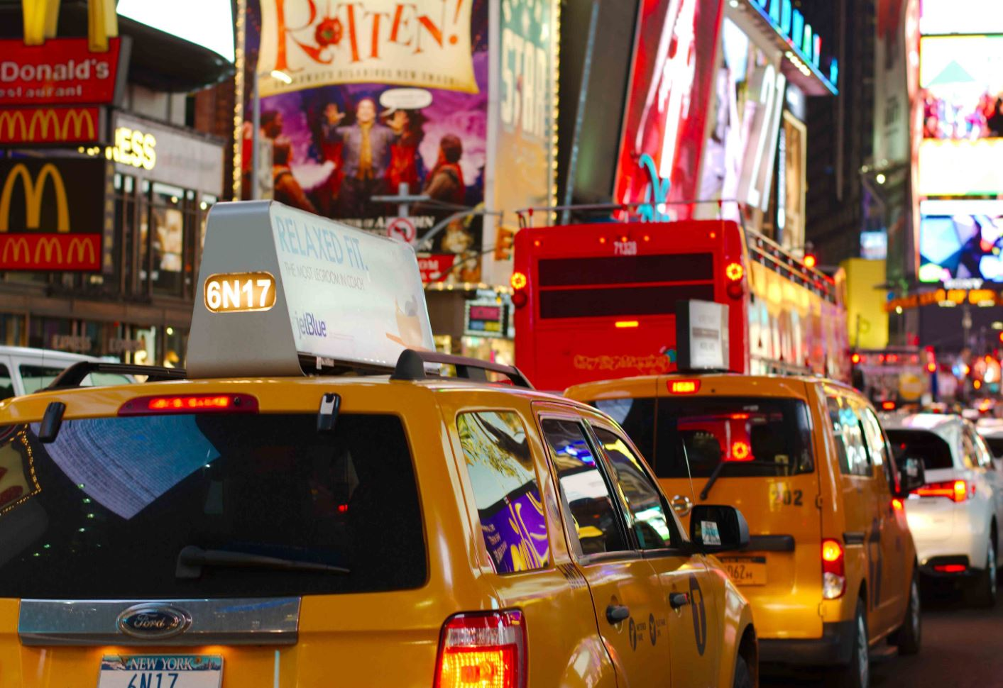 NYC Taxi am Time Square