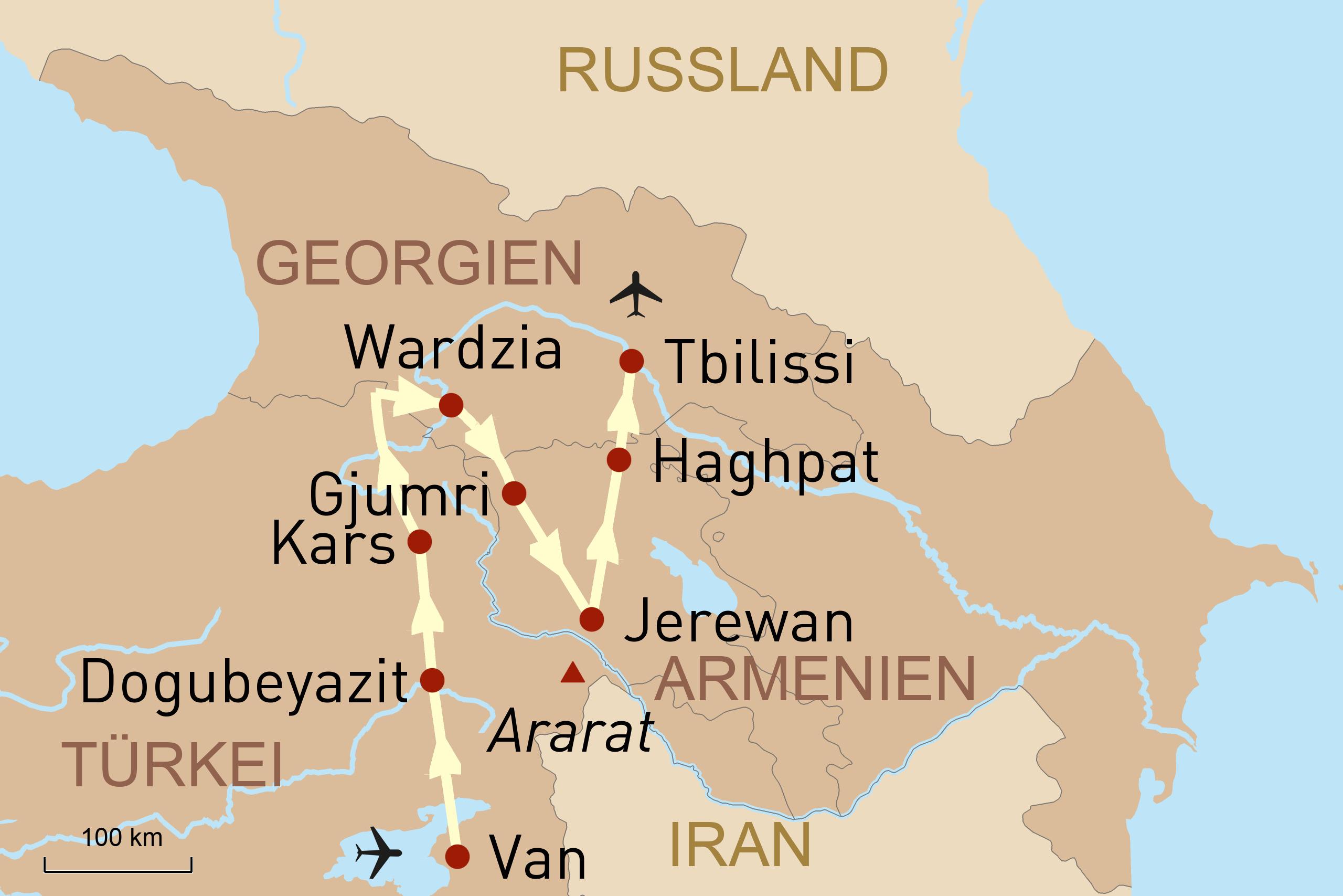 Reise Durch Die Ostturkei Armenien Georgien