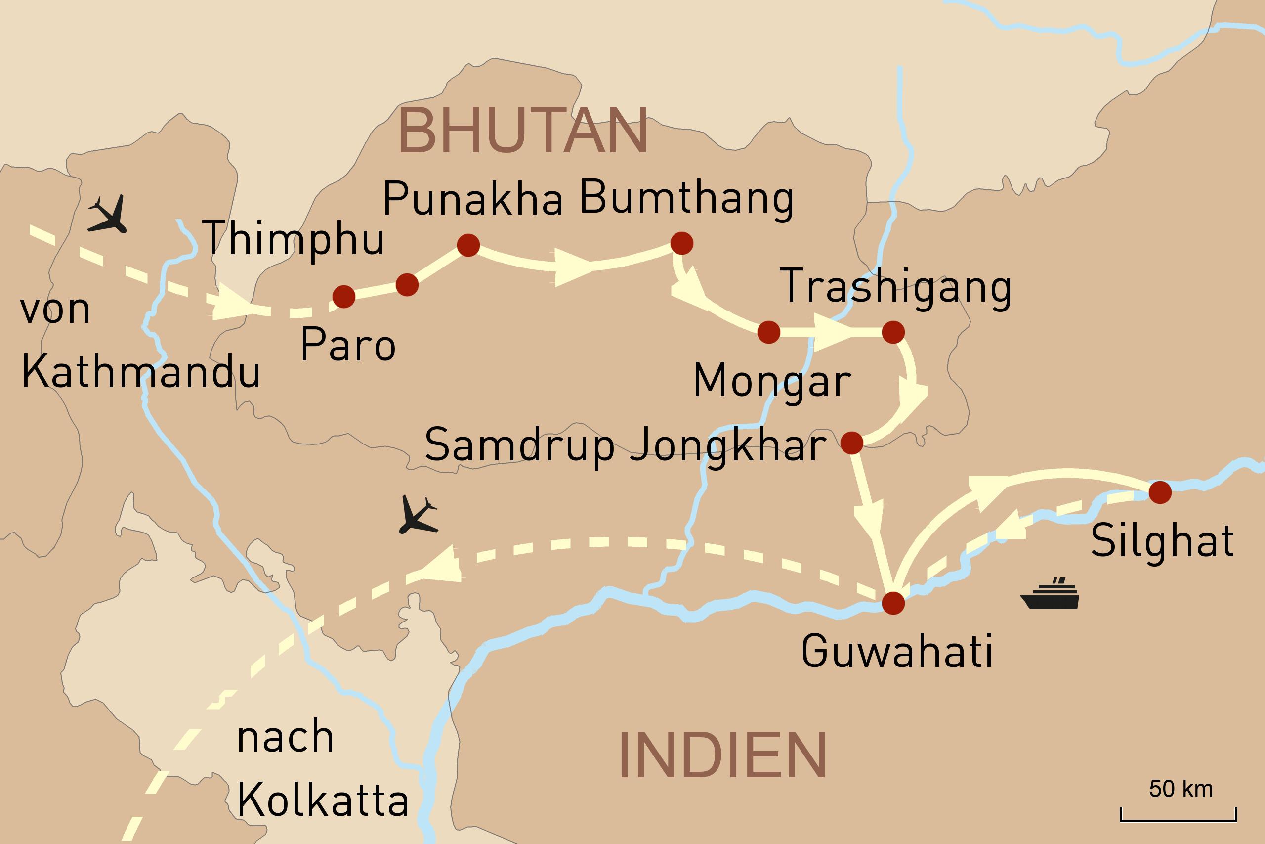 Individuelle Reise Nach Nepal Bhutan Nordindien Mit Flusskreuzfahrt