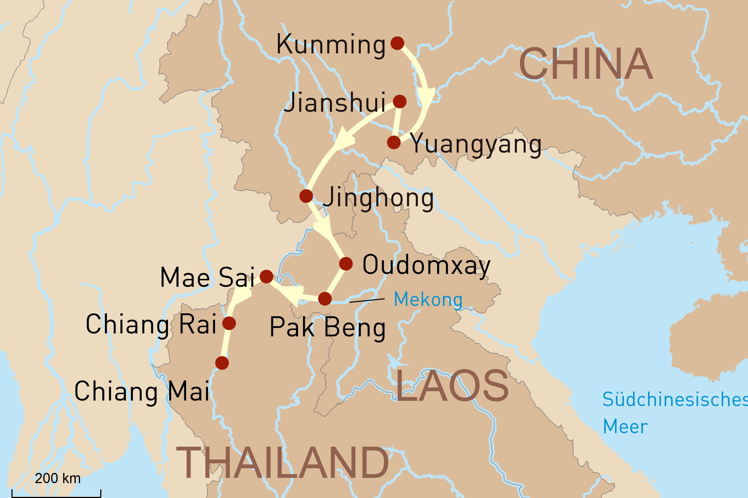 Reise durch China, Laos & Thailand
