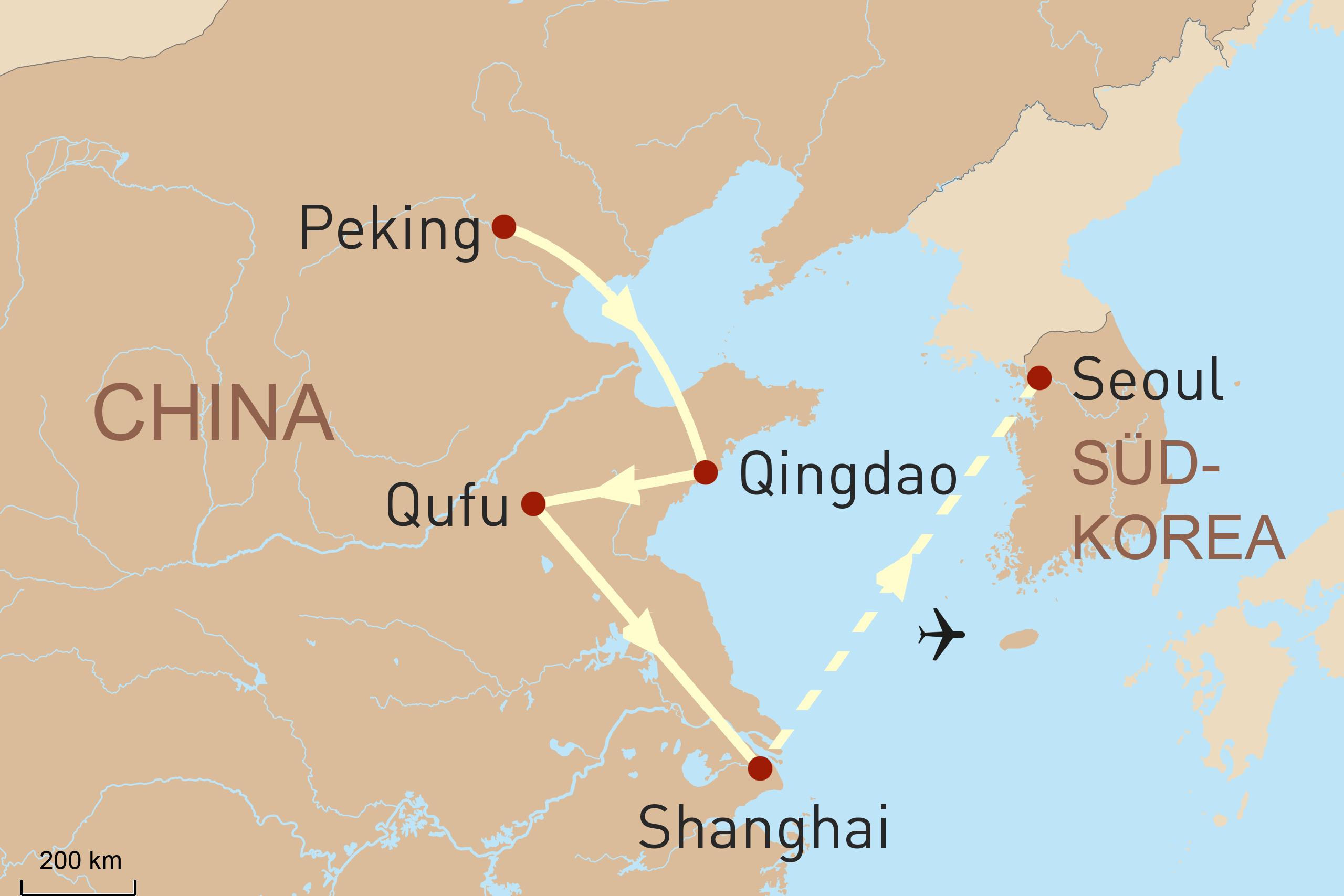China & Seoul