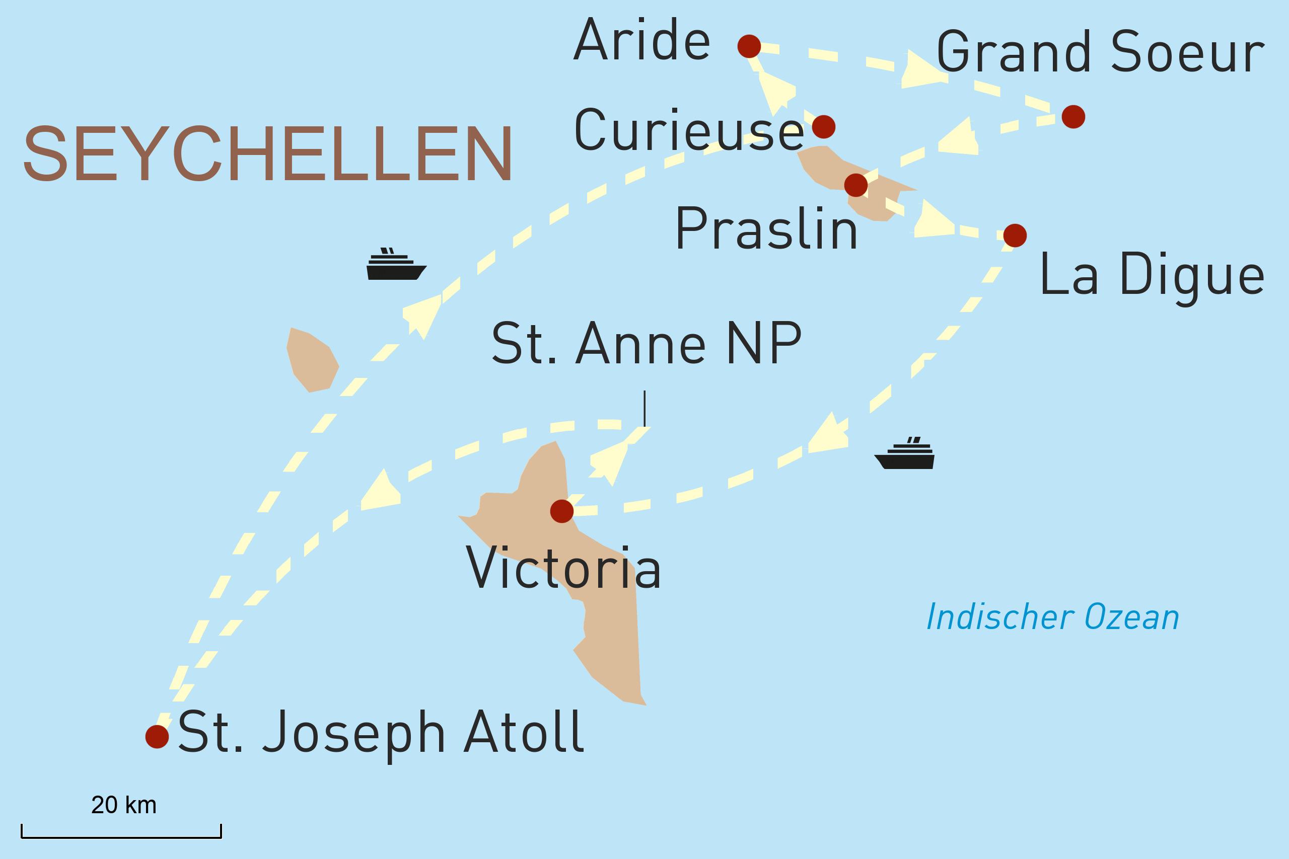 Seychellen Perlen des Indischen Ozeans