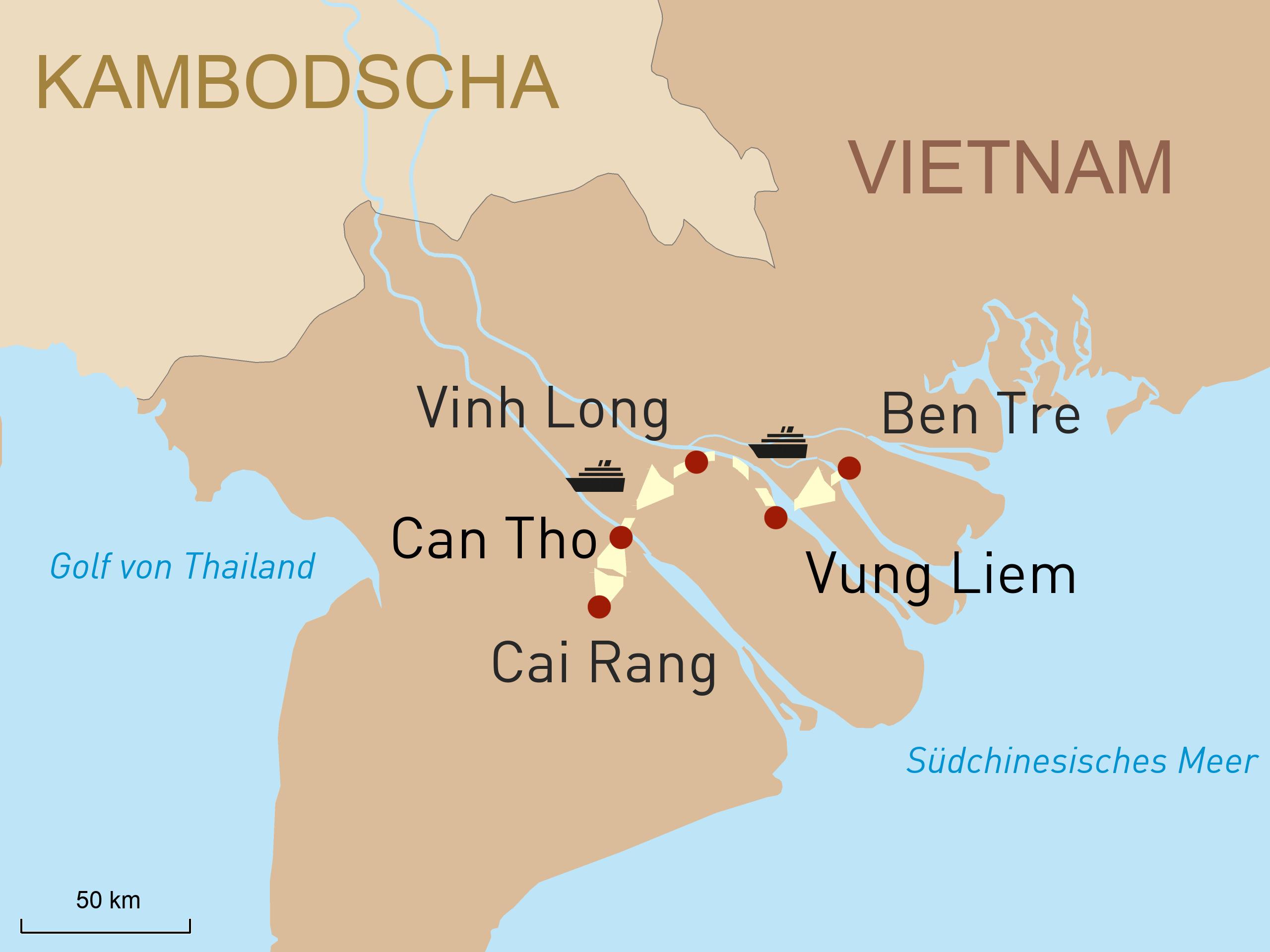 Mit dem Mango Boot durch das Mekong Delta