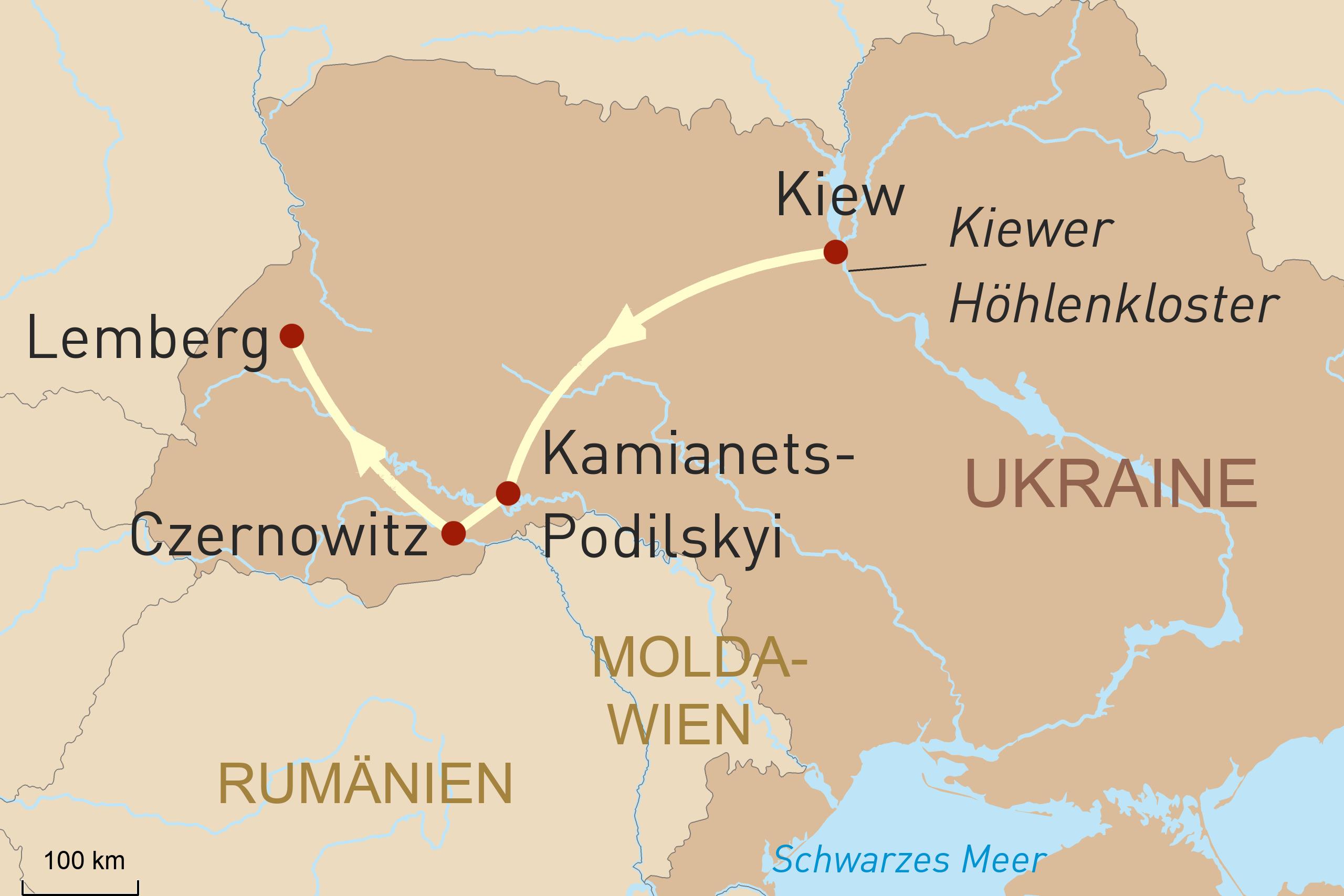 Rundreise durch die Westukraine