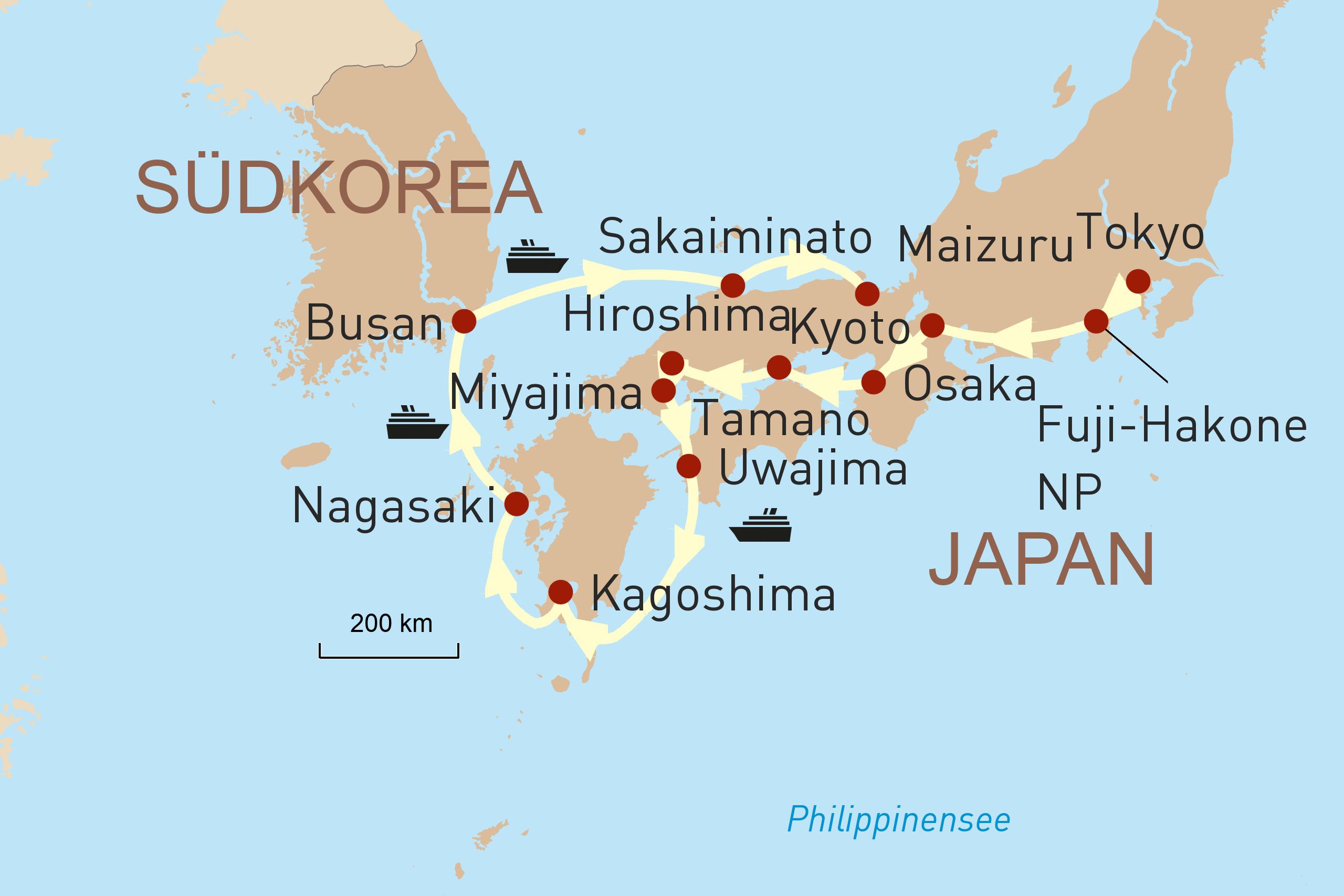 Kreuzfahrt Japan Ponant