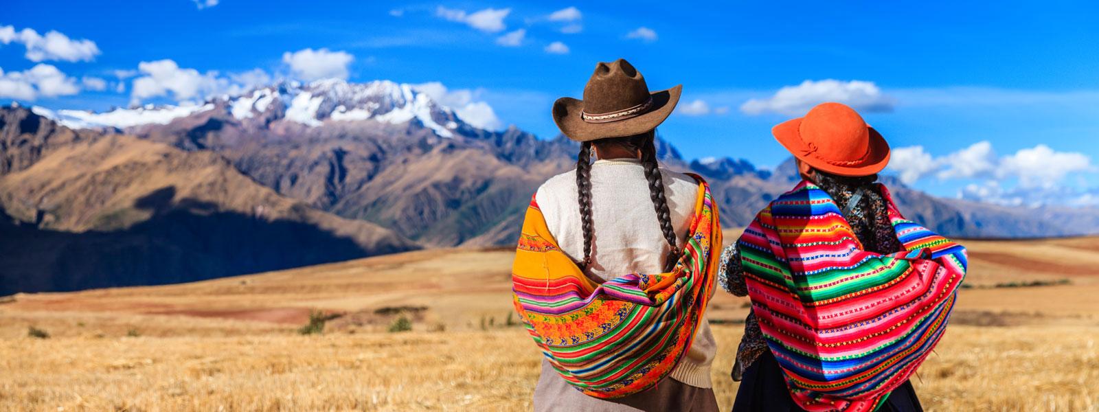 Peruanische Frauen im Urubambatal