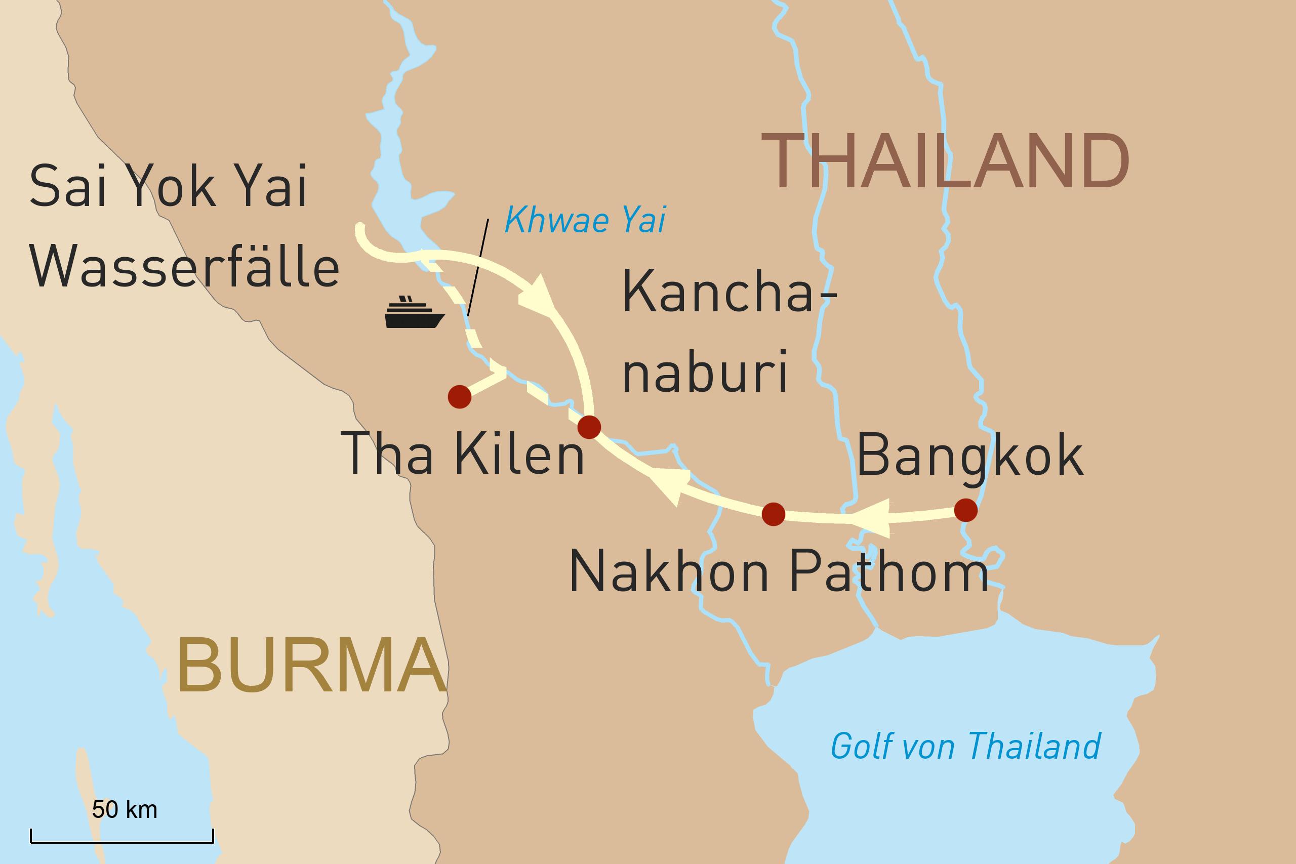 Entdeckungen auf dem River Kwai