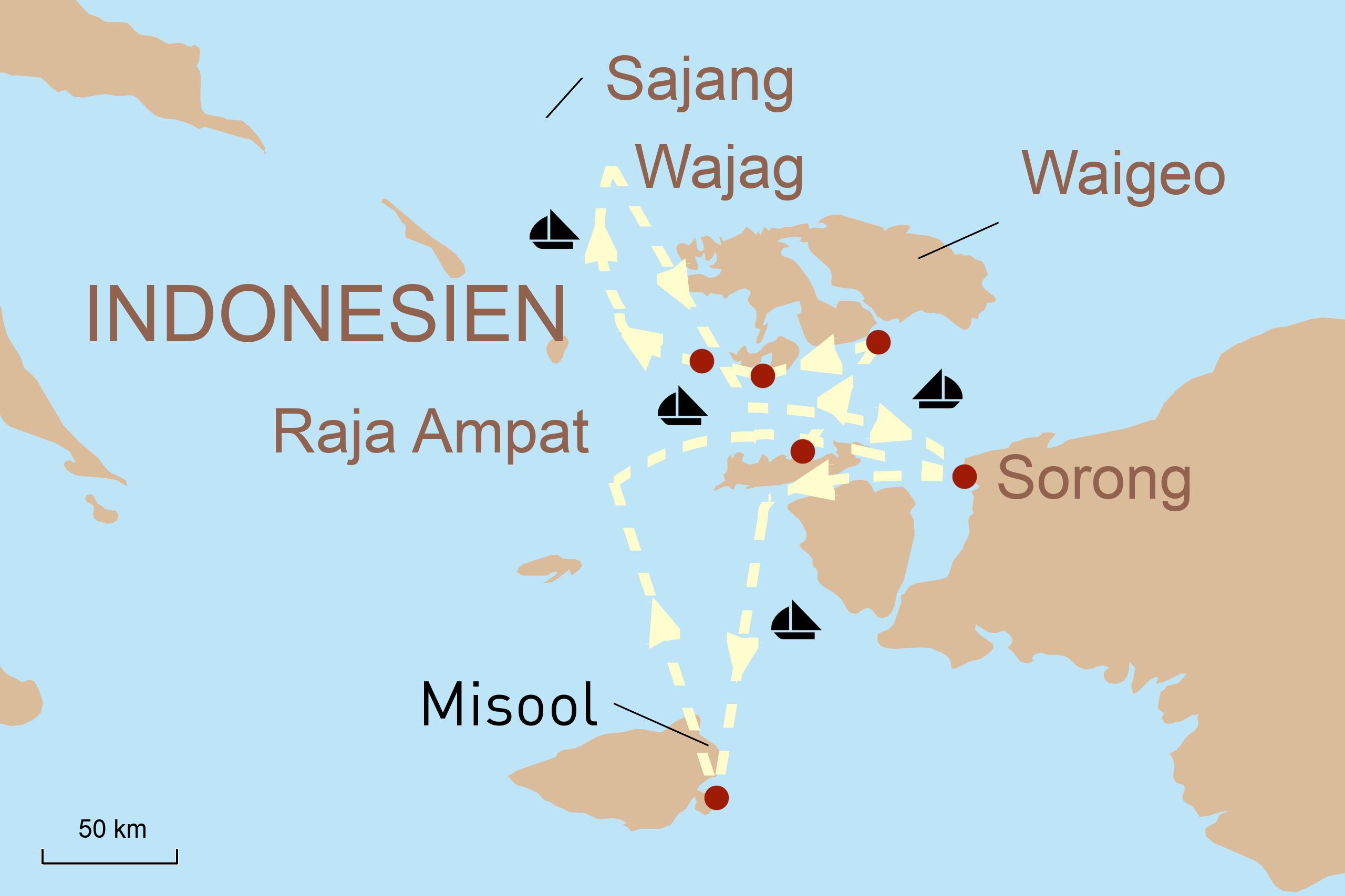 Indonesien Segeln Ombak Putih