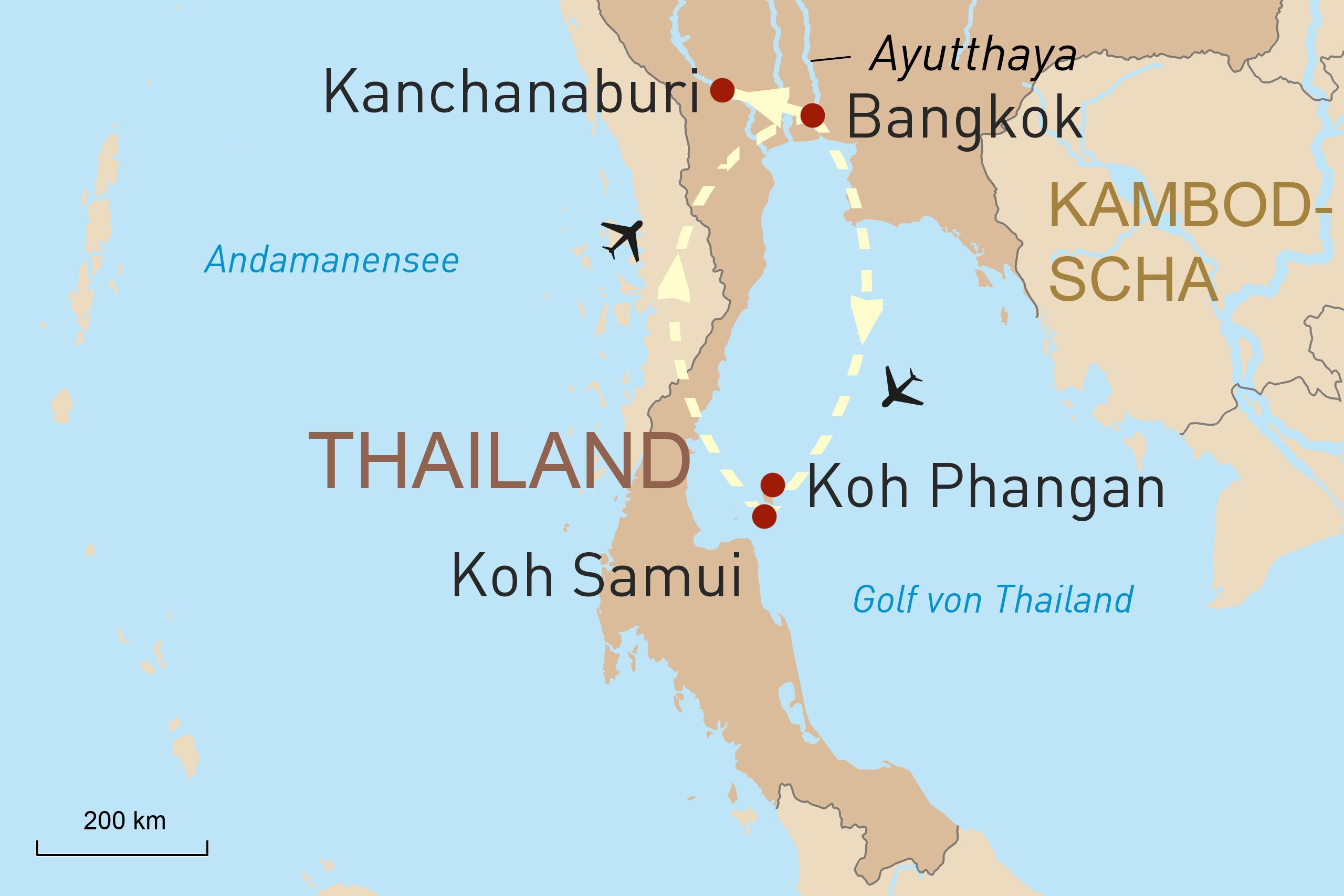Bangkok, Knachanaburi