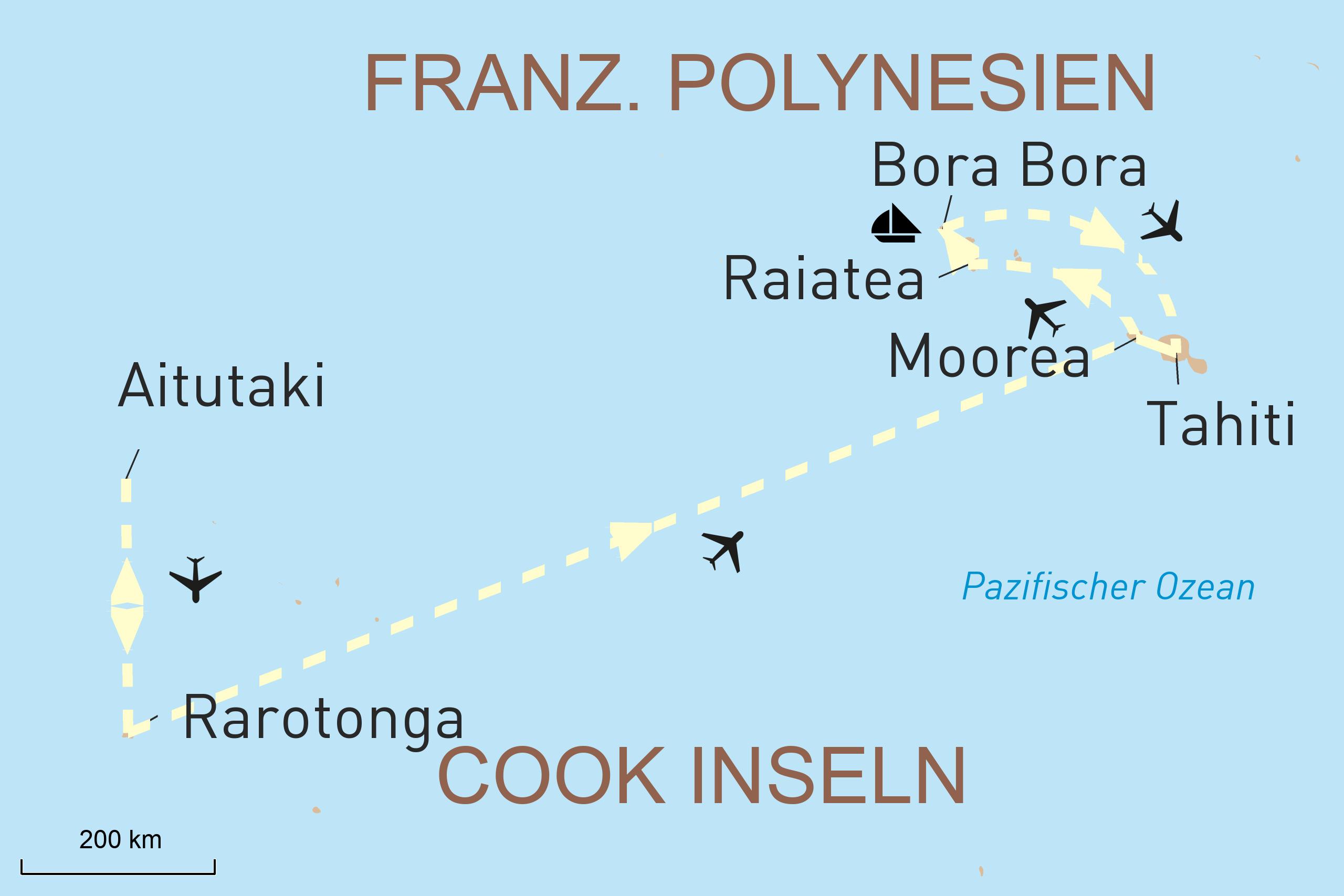Cook-Inseln und Französisch - Polynesien