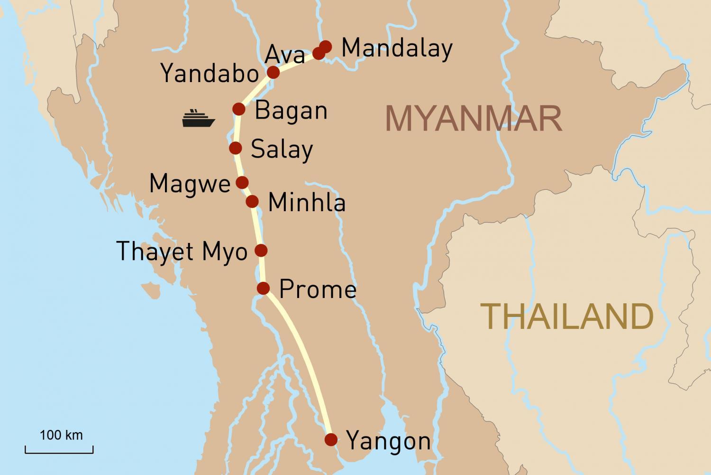 Flusskreuzfahrt in Myanmar auf der RV Paukan: Von Yangon nach Mandalay