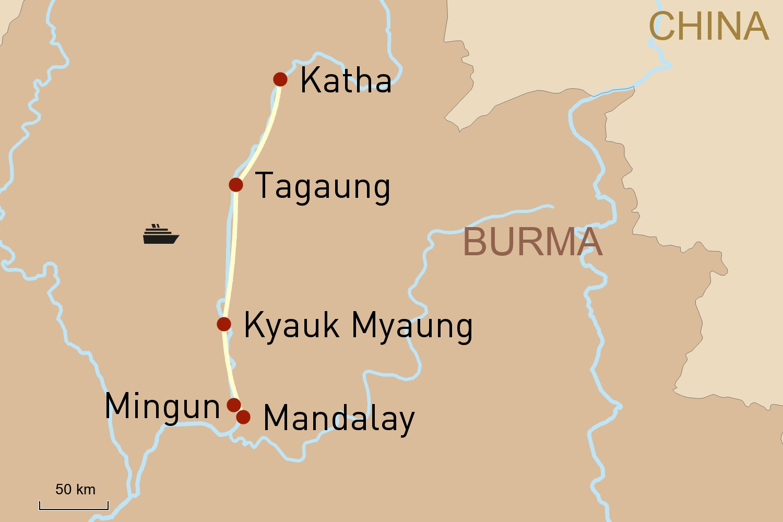 Flusskreuzfahrt in Myanmar auf der RV Paukan: Auf dem oberen Irrawaddy