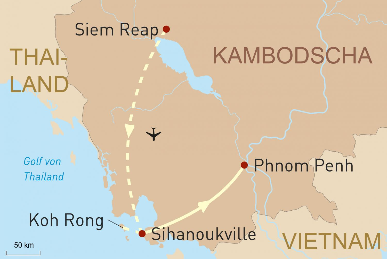 Angkor Wat in Style und verstecktes Inselparadies Koh Rong