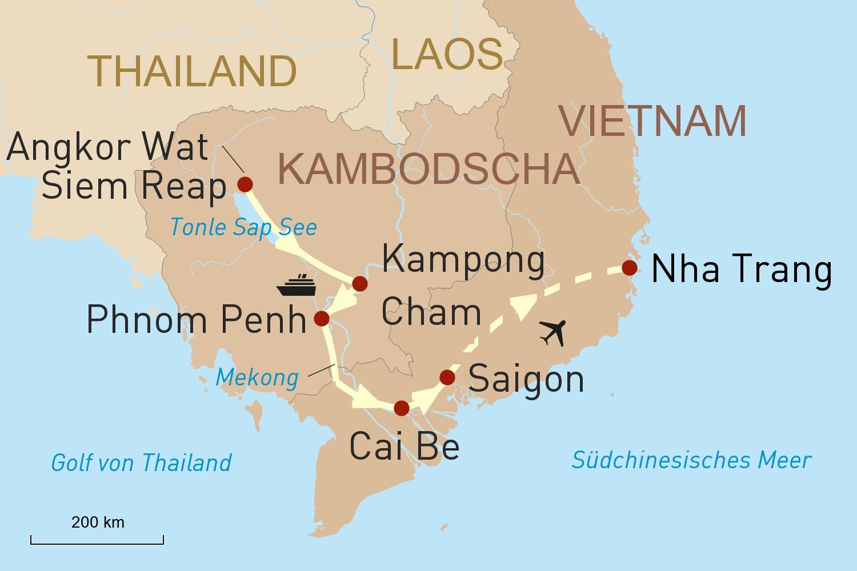 Angkor Wat, Mekong-Kreuzfahrt mit Heritage Line & Erholung an Vietnams Küste
