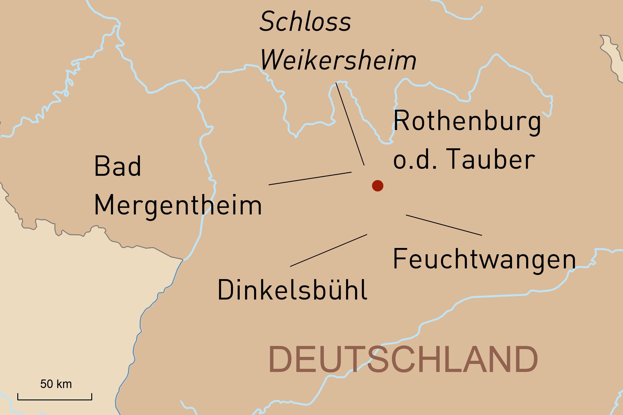 Privatreise Romantische Straße Rothenburg ob der Tauber und Umgebung