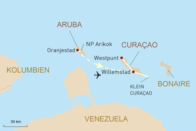Reise in die südliche Karibik: Aruba & Curaçao