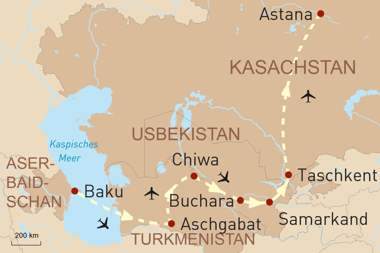 Terra Incognita - Aserbaidschan, Turkmenistan, Usbekistan & Kasachstan