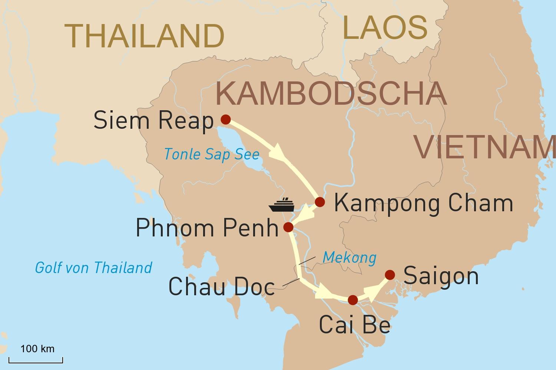 Flusskreuzfahrt mit Heritage Line: Auf dem Mekong von Siem Reap nach Saigon