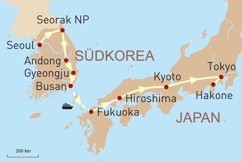 Südkorea & Japan: Auf der historischen Landbrücke von Seoul nach Tokyo