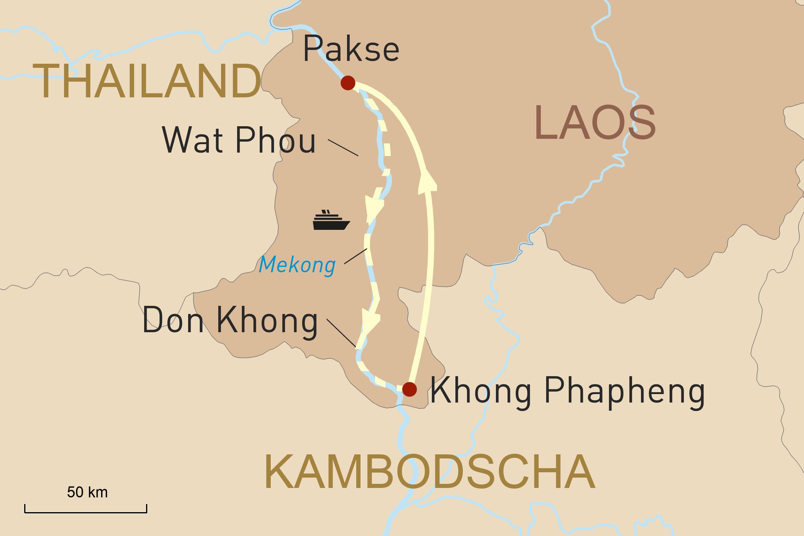 Auf der Vat Phou durch das südliche Laos