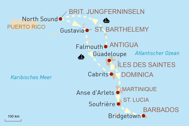 Segelkreuzfahrt mit Sea Cloud II: Die traumhafte Inselwelt der Karibik
