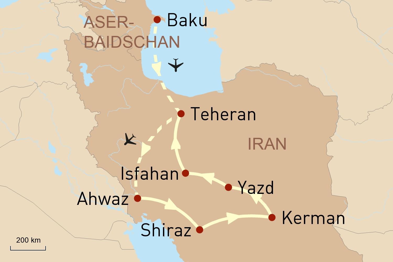 Aufstrebende Metropole Baku & Zauberhafter Iran