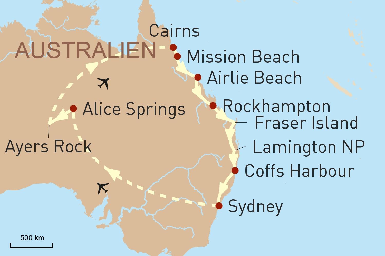 Australien Reise: Höhepunkte von Australien