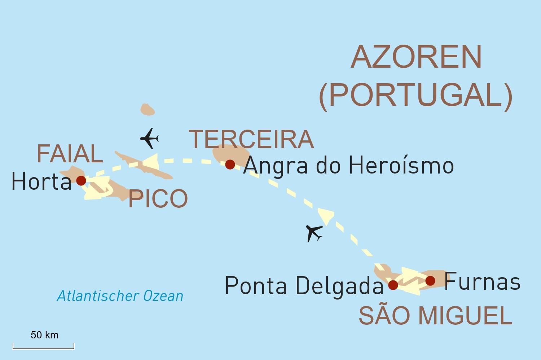 Azoren Reise - Inselhopping im tiefblauen Atlantik