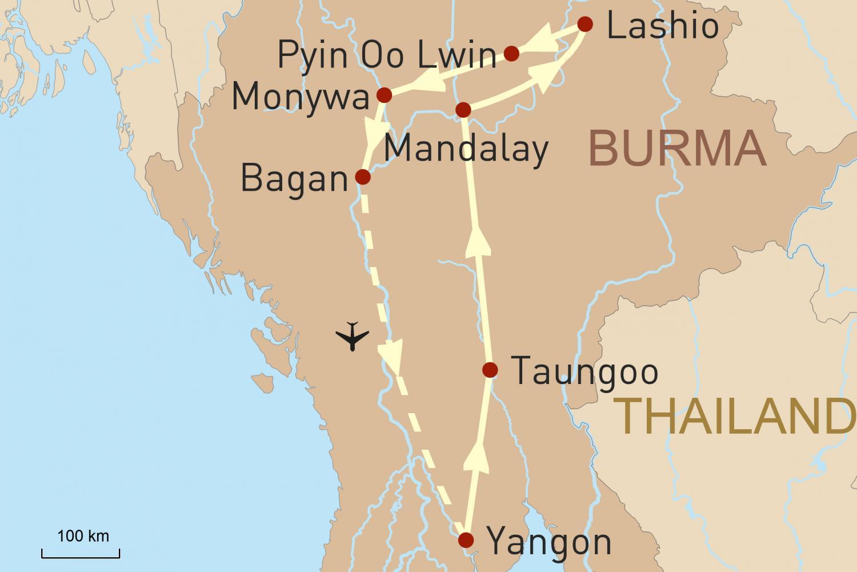 Bahnerlebnisreise Myanmar