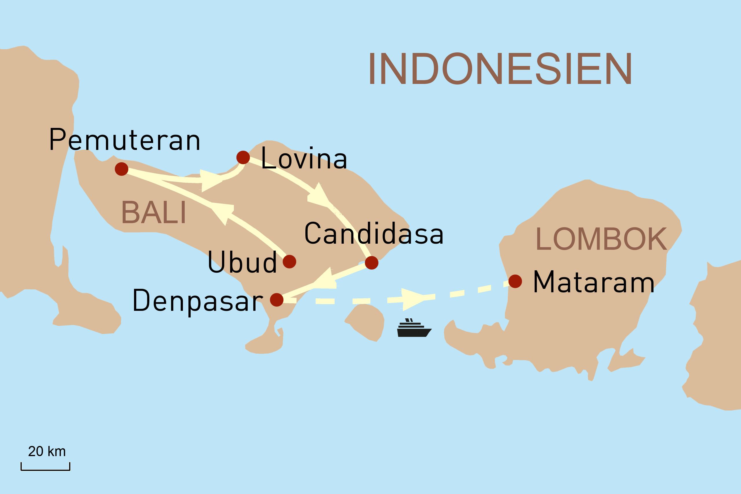 Balis Faszination und Baden auf Lombok