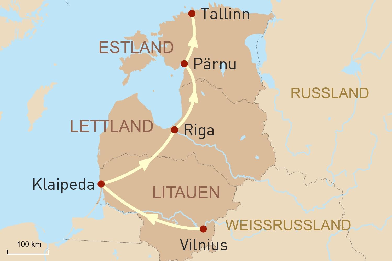 Exklusive Privatreise durch das Baltikum