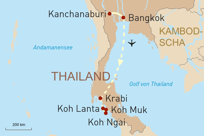 Thailand: Bangkok, Kanchanaburi & Inselhüpfen in der Andamanensee