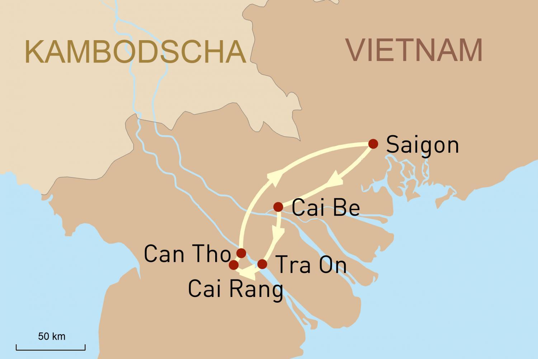 Mekong-Delta Kreuzfahrt mit Bassac Cruise: Vietnam auf dem Wasser erleben