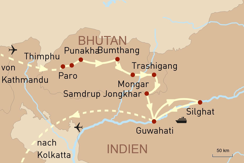 Bhutan & Assam Reise mit Flusskreuzfahrt: Durch das Land des Glücks