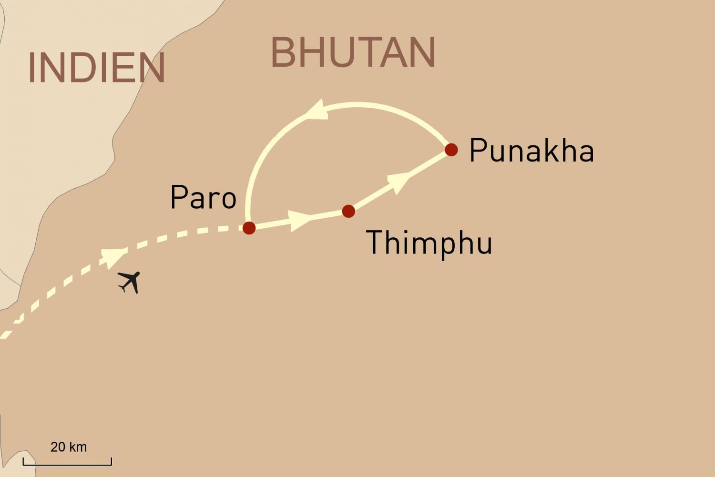 Reise nach Bhutan - Land des Drachen