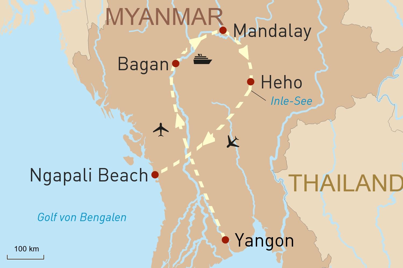 Schätze Myanmars & Luxuskreuzfahrt auf dem Irrawaddy