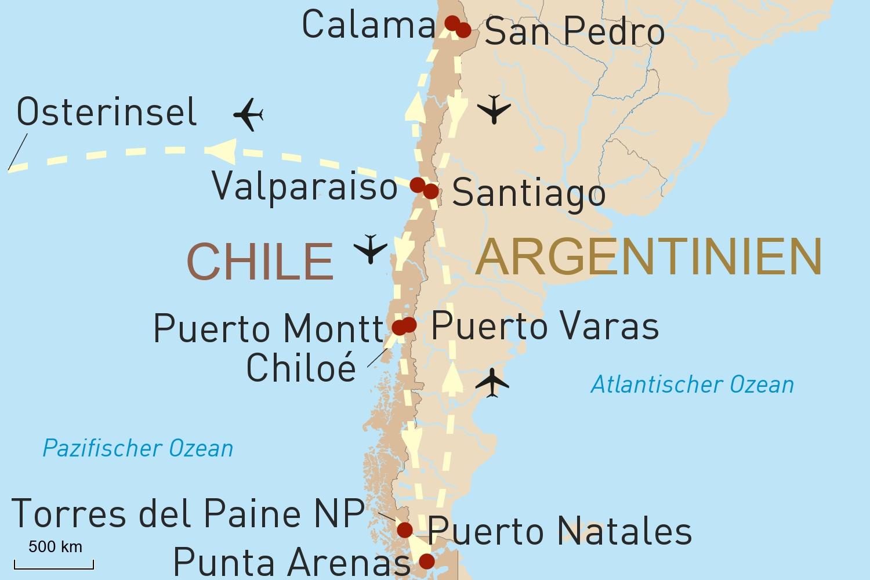 Chile Reise: Naturschönheiten