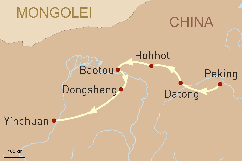 China Reise: Durch das Grasland der Inneren Mongolei