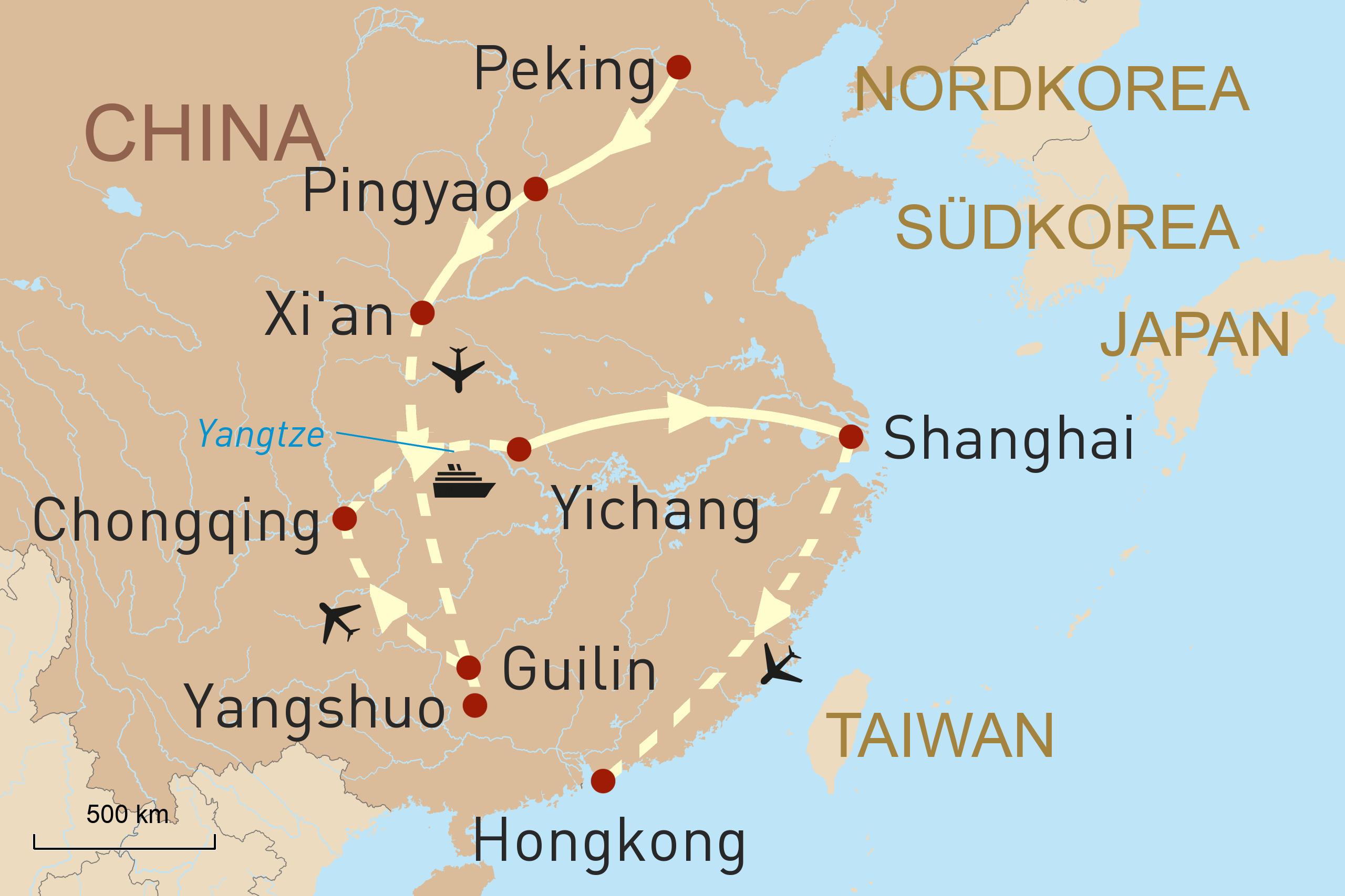 Chinas Höhepunkte