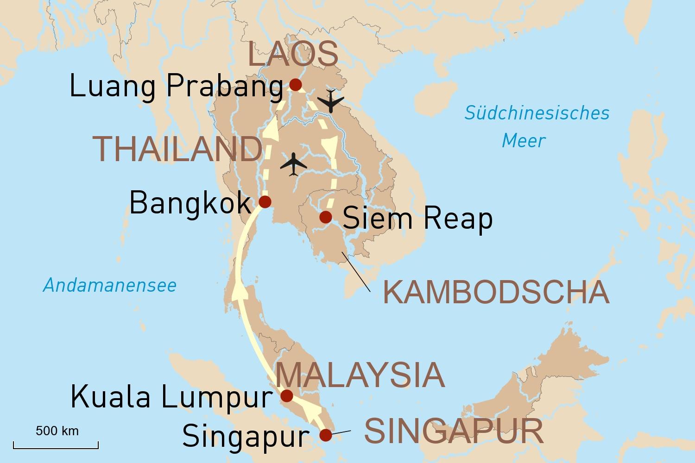 Colonial Cocktails - Singapur, Malaysia, Thailand, Laos & Kambodscha