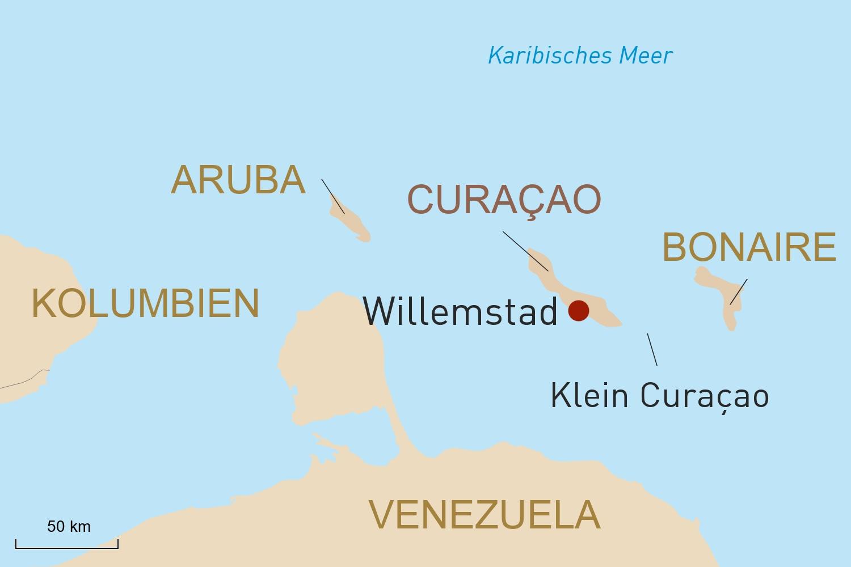 Farbenfrohe Karibikinsel Curaçao