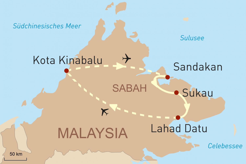 Das Naturparadies Sabah mit Erkundung des Tabin Wildreservats