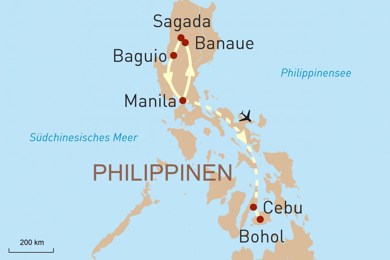 Die Höhepunkte der philippinischen Inseln