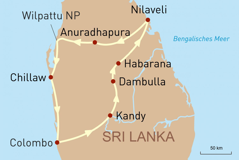 Die Perle Sri Lanka - von Colombo zur Ostküste