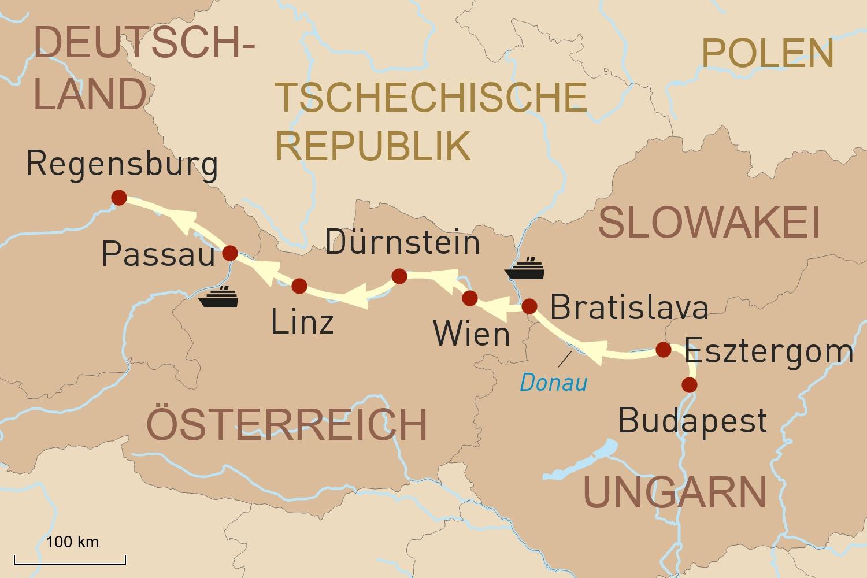 Donau Flusskreuzfahrt mit Lüftner Cruises: Von Budapest nach Passau