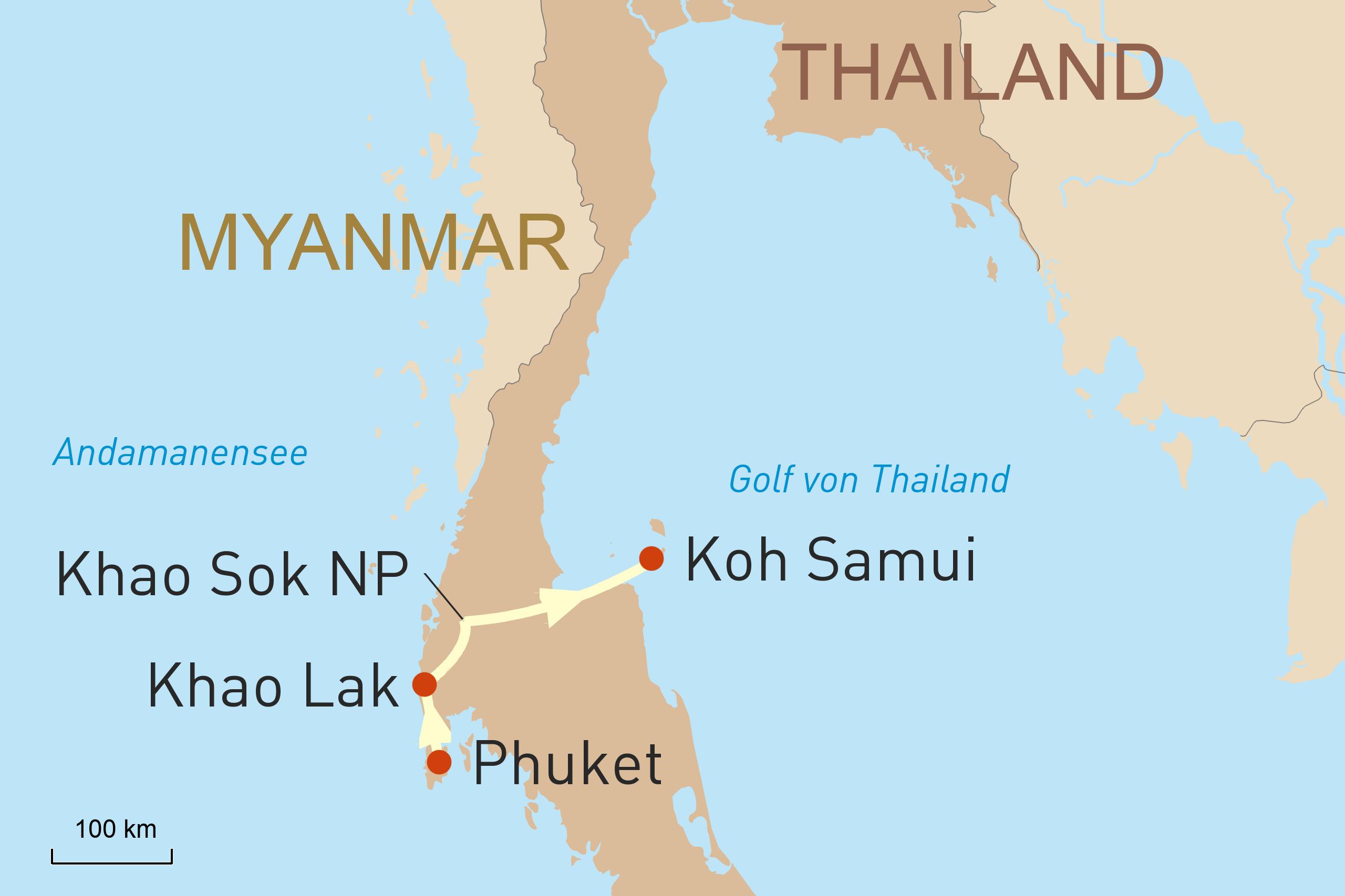 Dschungelerlenis Khao Sok und Inselwelt Thailands