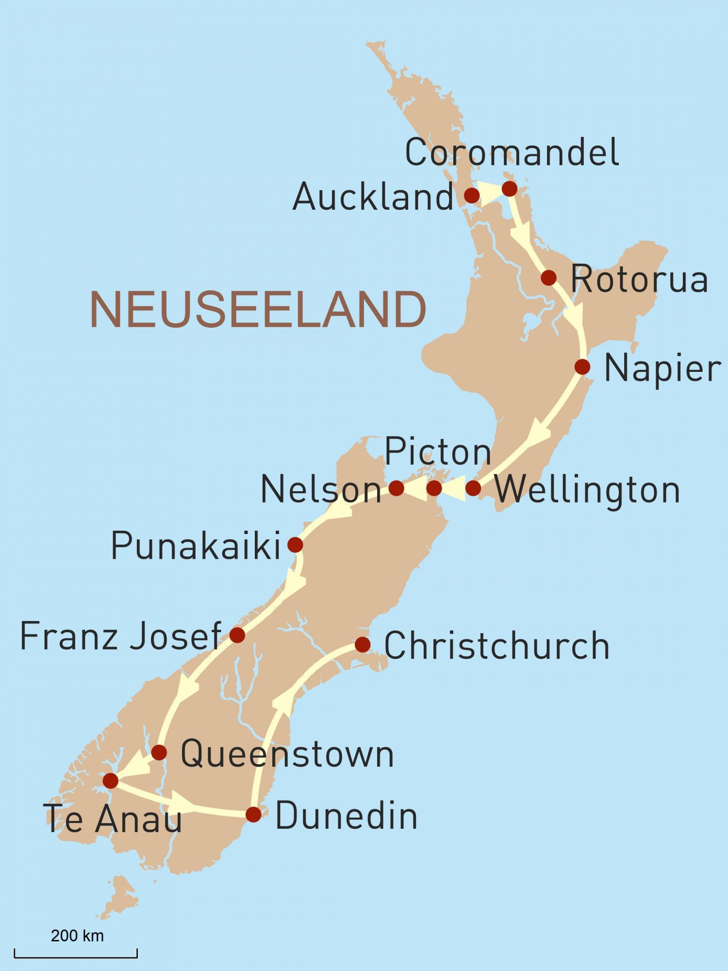 Neuseeland: Mit dem Mietwagen durch das