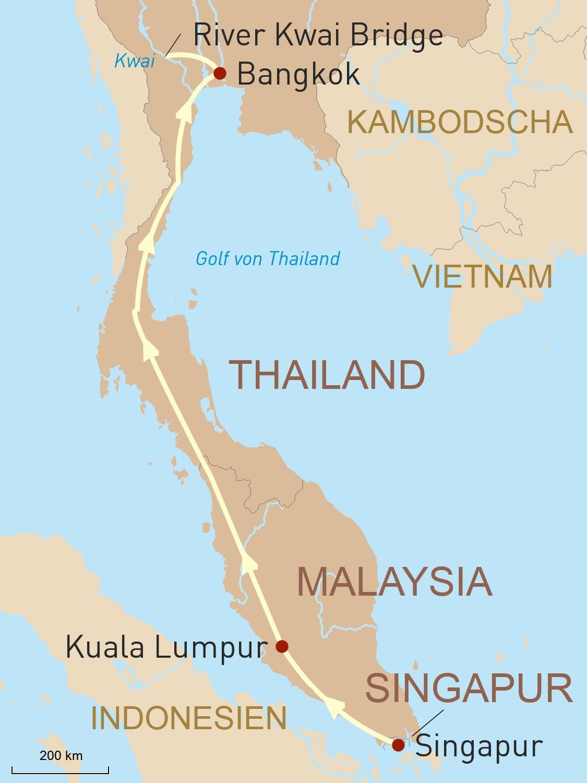 Mit dem Eastern & Oriental Express von Singapur nach Bangkok